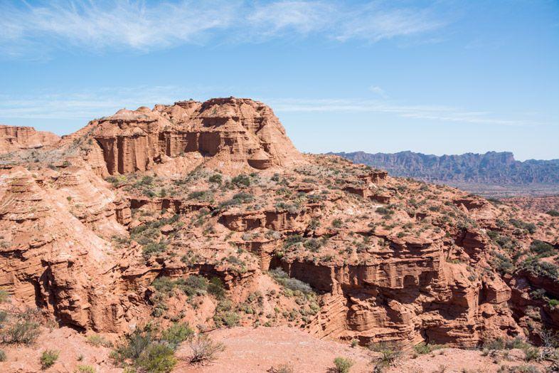 Parc-National-Sierra-de-las-Quijadas-province-de-San-Luis-Argentine-vue-des-formations-rocheuses-depuis-miradores