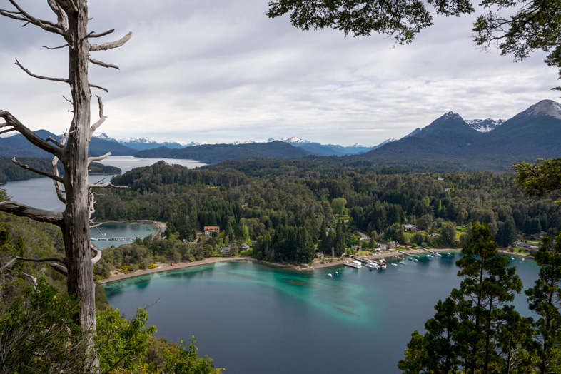bosque arrayanes villa la angostura parc national argentine vue sur la baie