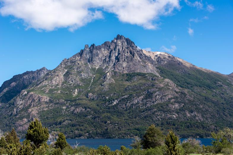 Montagne dans le parc national Lanin en Argentine