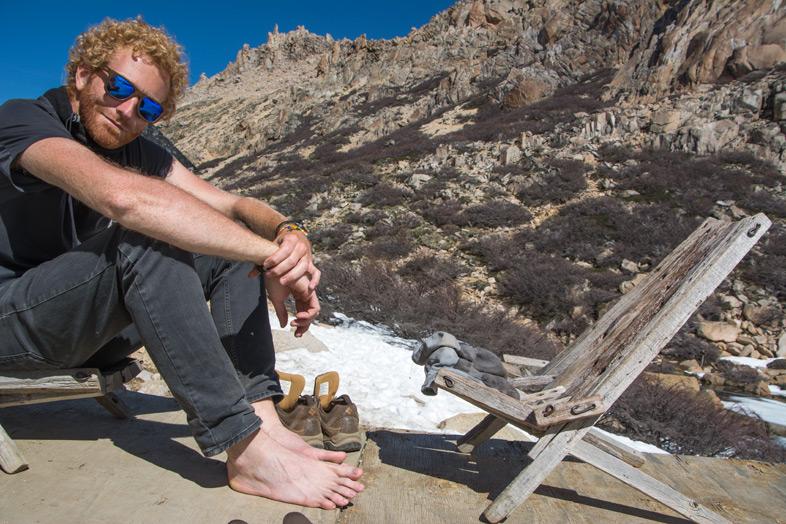 Refuge Frey randonnee trekking bariloche argentine tim pieds nus soleil