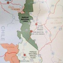 carte parc national lanin argentine