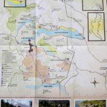 carte parc national lanin sentiers randonnee