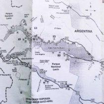 carte services parc national lanin argentine noir et blanc