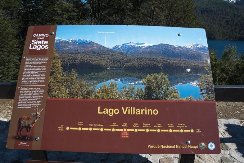 lago villarino itineraire route des 7 lacs argentine