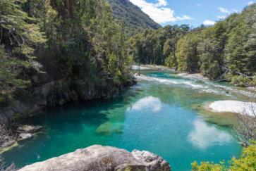 postshow riviere turquoise cajon del azul el bolson randonnee trekking argentine