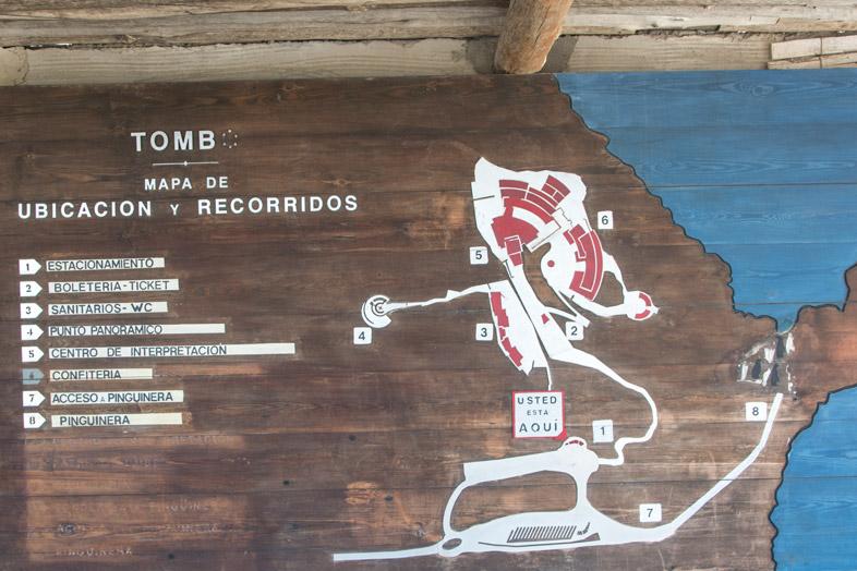 punta tombo carte du site pingouins manchots argentine