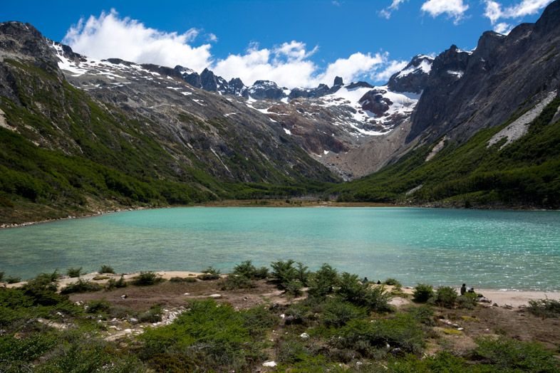 arrivee laguna esmeralda randonnee trek Ushuaia patagonie argentine-insta