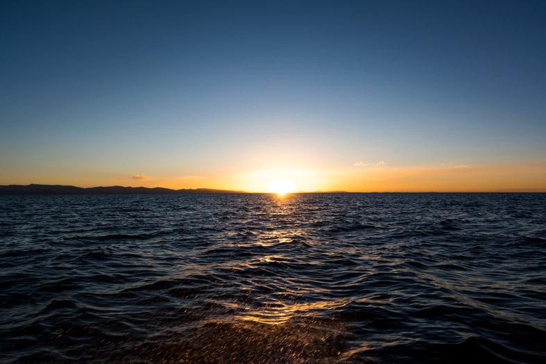 coucher de soleil sur lac titicaca bolivie isla del sol