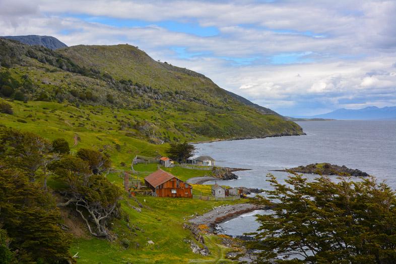 estancia grange ferme sur la cote extreme sud randonnee trek ushuaia argentine