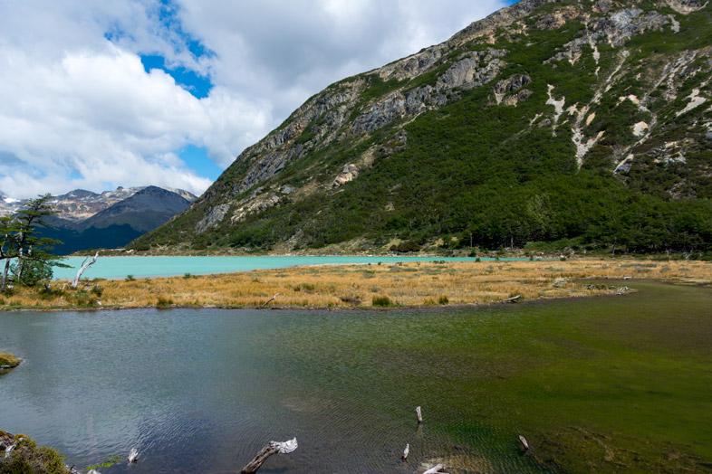 limite entre laguna esmeralda et barrage de castor randonnee trek Ushuaia patagonie argentine