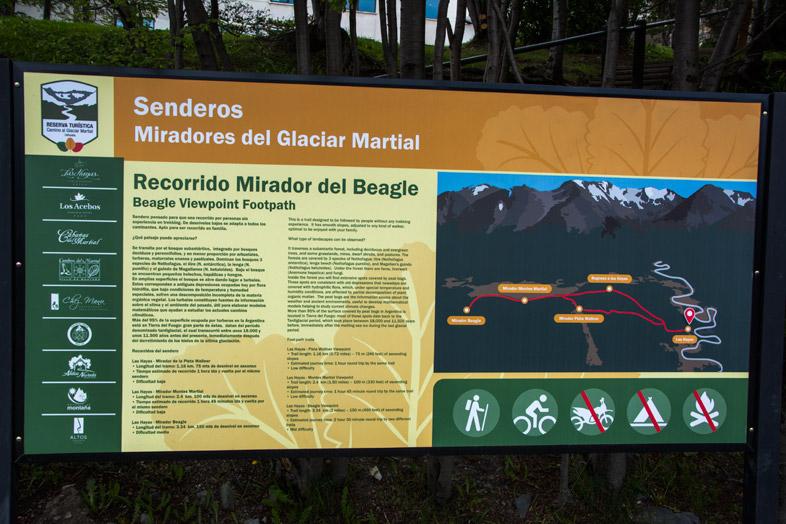 panneau-indicatif-chemin-glaciar-martial-ushuaia-argentine