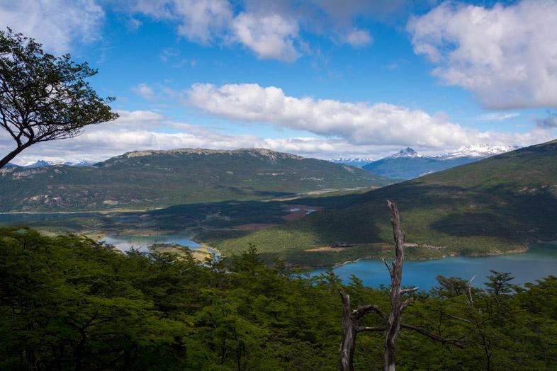 vue premier mirador cerro guanaco Parc national tierra del fuego Argentine Ushuaia