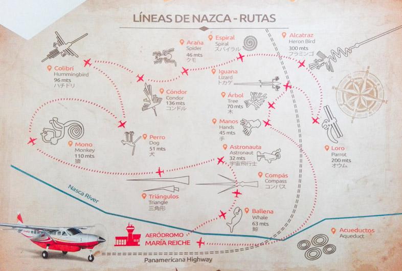 carte-plan-vol-survol-lignes-geoglyphes-nazca-perou