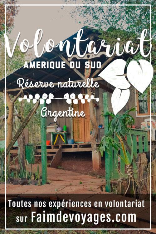 Expérience de Volontariat près d'Iguazu dans une réserve naturelle en Argentine sur faimdevoyages