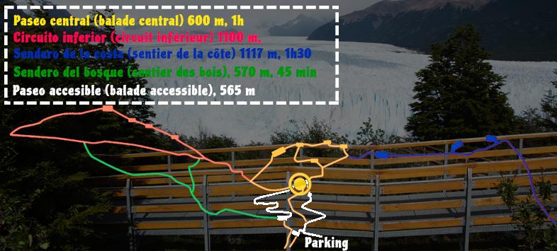 carte perito moreno sentier patagonie