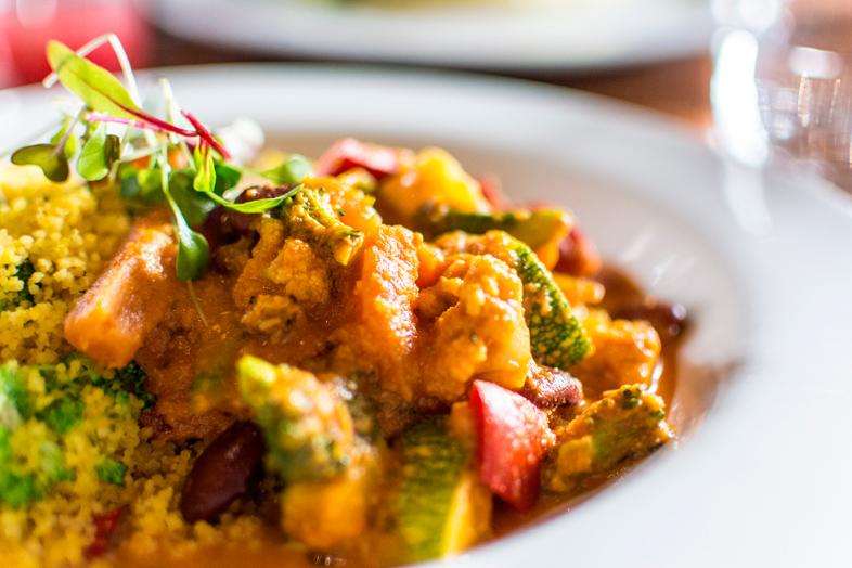 curry africain chez Greens Organic à Cusco