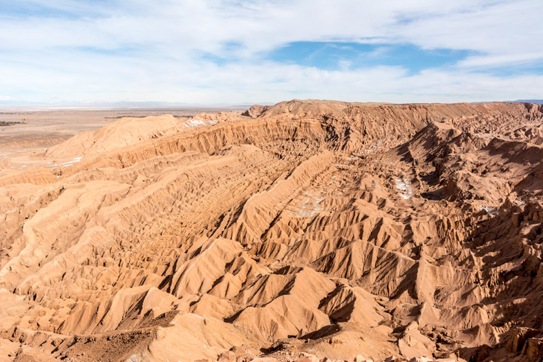Vue sur la Vallée de la Mort depuis la Pucara de Quitor au Chili