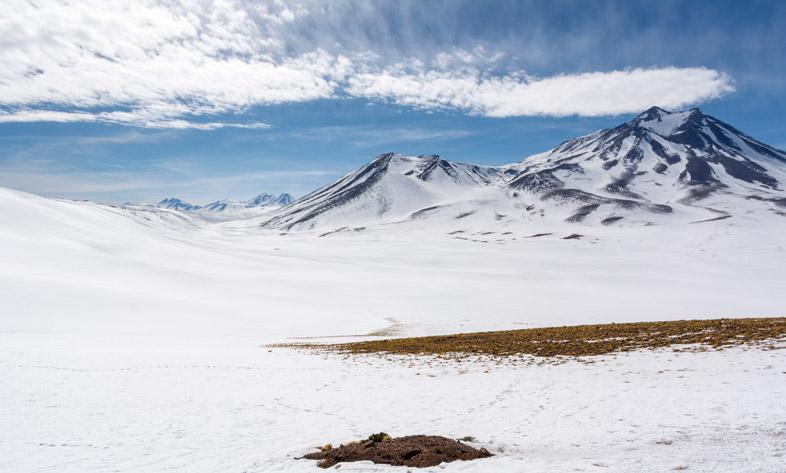 montagnes enneigées près de Piedras Rojas