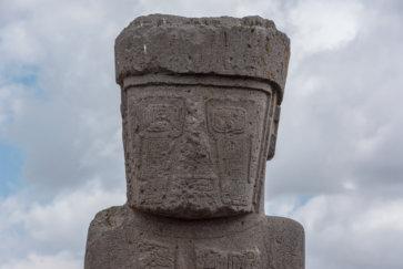 postshow tiwanaku bolivie statue