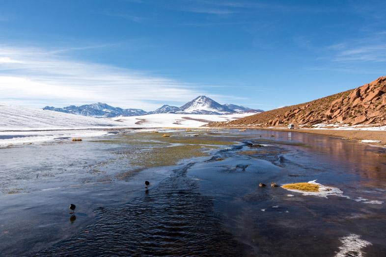 Route vers les Geysers du Tatio au Chili