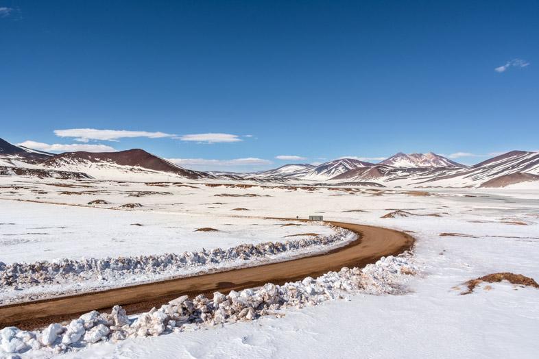 Route vers Piedras Rojas au Chili