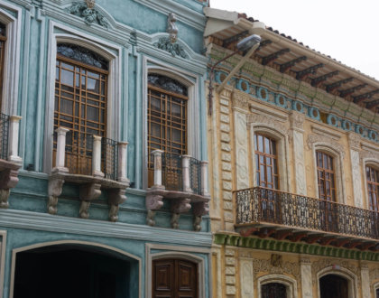 cuenca ville equateur facade maison unescojpg