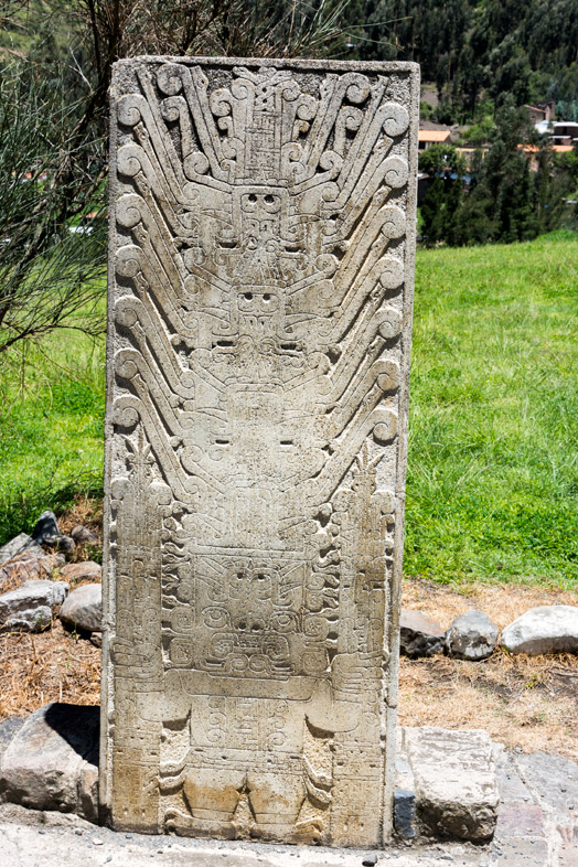 Stele Raimondi sur le site de Chavin de Huantar au Pérou