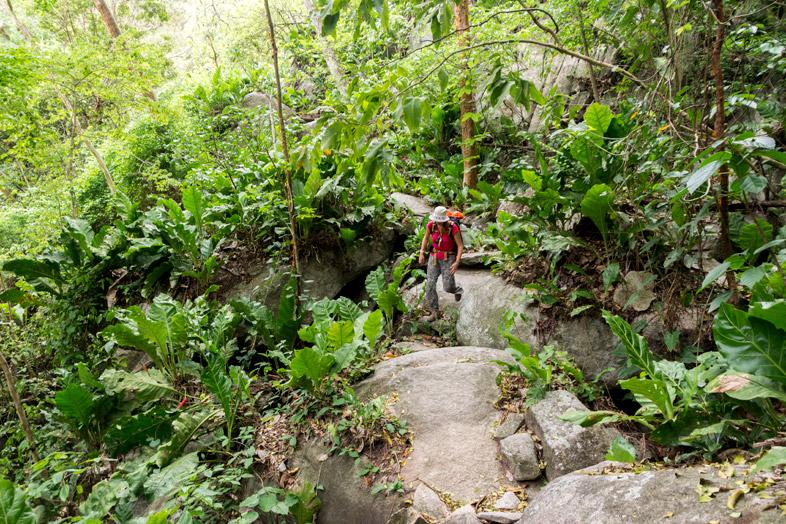 chemin pueblito cabo san juan del guia cecilia randonnee parc tayrona colombie