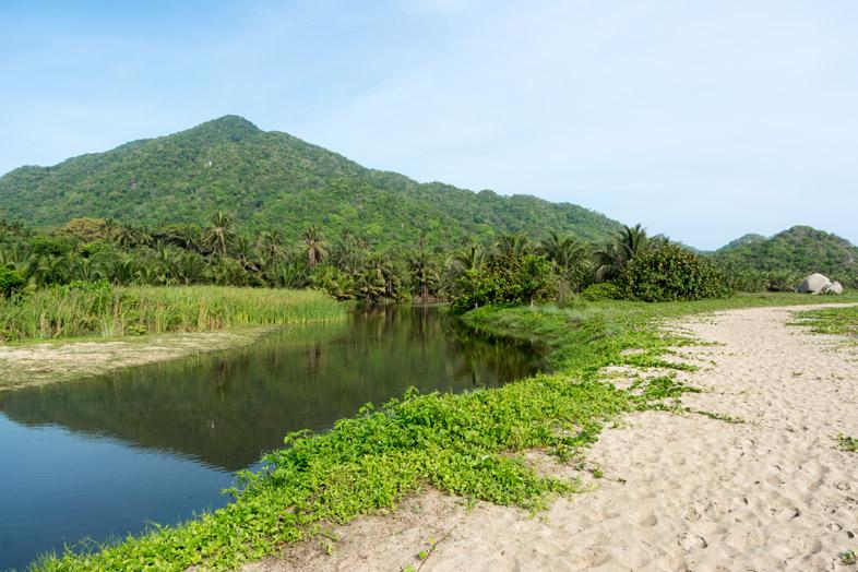 lagune plage arrecifes parc tayrona colombie