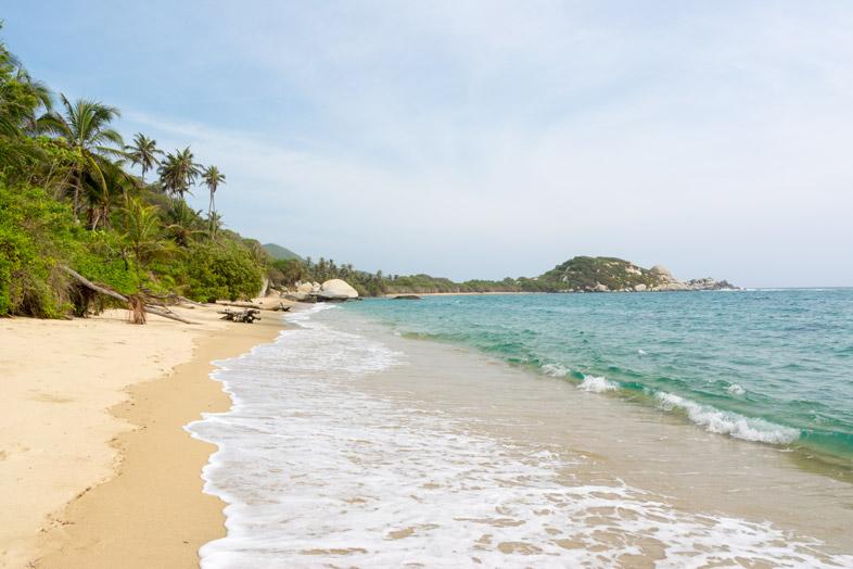 plage la piscina baignade snorkeling parc tayrona colombie