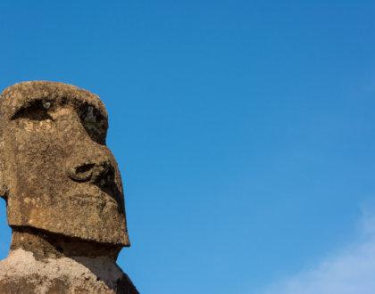 Moai Sur L île De Pâques Au Chili