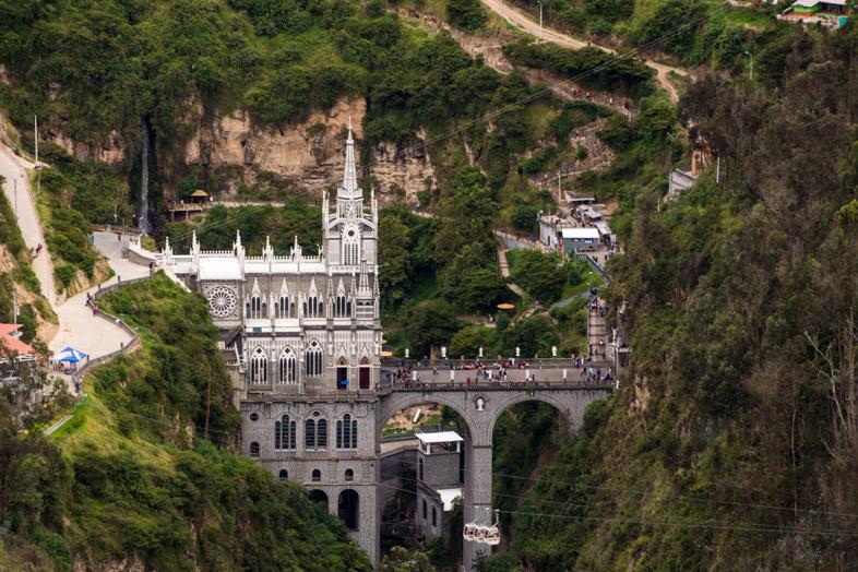Le Sanctuaire De Las Lajas Depuis Un Point De Vue