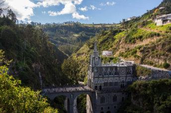 Vue Mythique Du Sanctuaire De Las Lajas