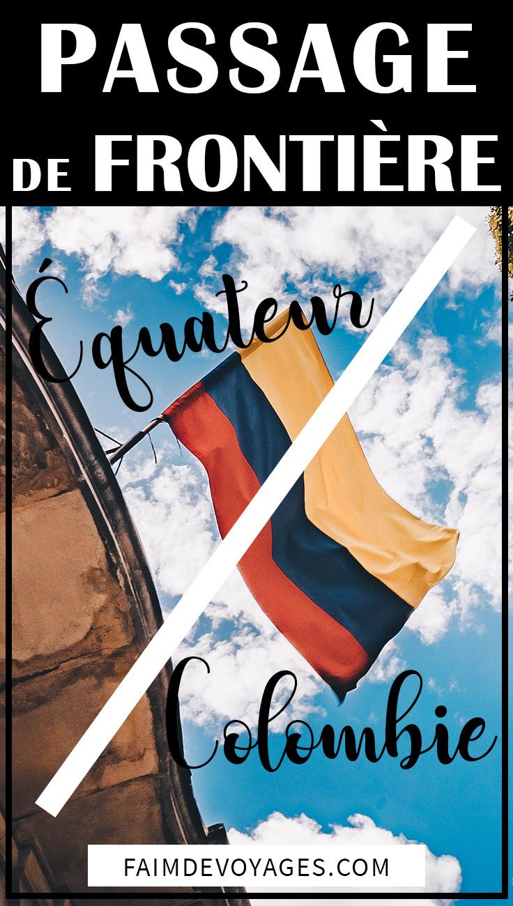 Drapeau De La Colombie Au Passage De Frontière Avec L'équateur