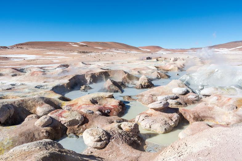 Geysers Sol De Mañana En Bolivie Dans Le Sud Lipez, Un Spectacle Géothérmique