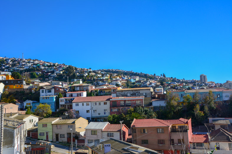 Les Cerros De La Ville De Valparaiso