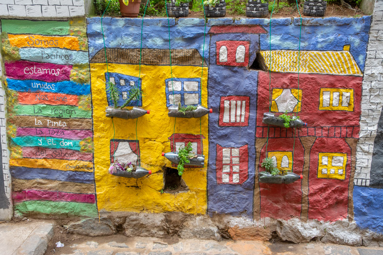 Représentation De Valparaiso Sur Du Crépi
