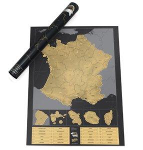 Carte De France à Gratter Fond Sombre