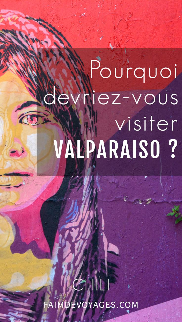 Fresque De Street Art à Valparaiso