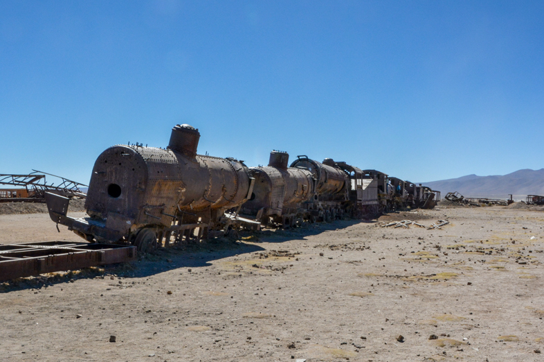 Train Du Cimetière De Trains à Uyuni En Bolivie