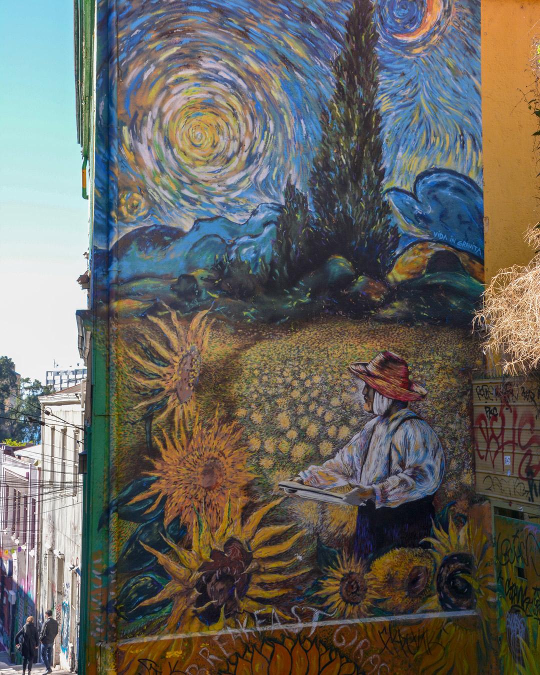 Van Gogh En Peinture Murale à Valparaiso