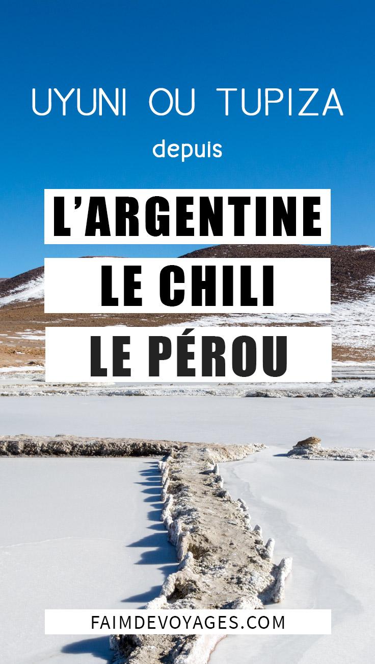 Venir à Uyuni Ou à Tupiza Depuis Le Chili L'argentine Et Le Pérou Transports