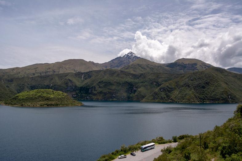 Vue De La Laguna Cuicocha En Equateur Près De Otavalo