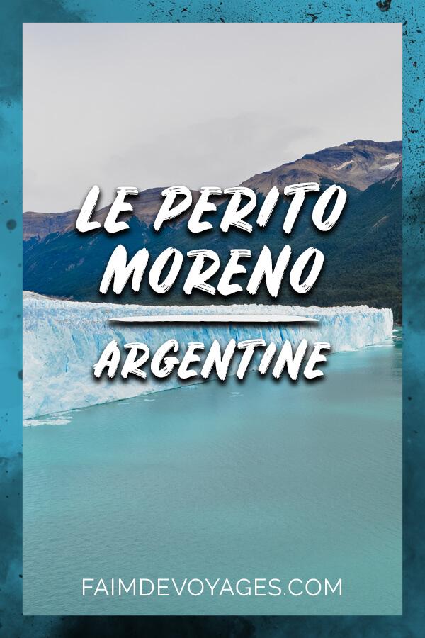 Glacier Perito Moreno Se Jette Dans Un Lac En Argentine