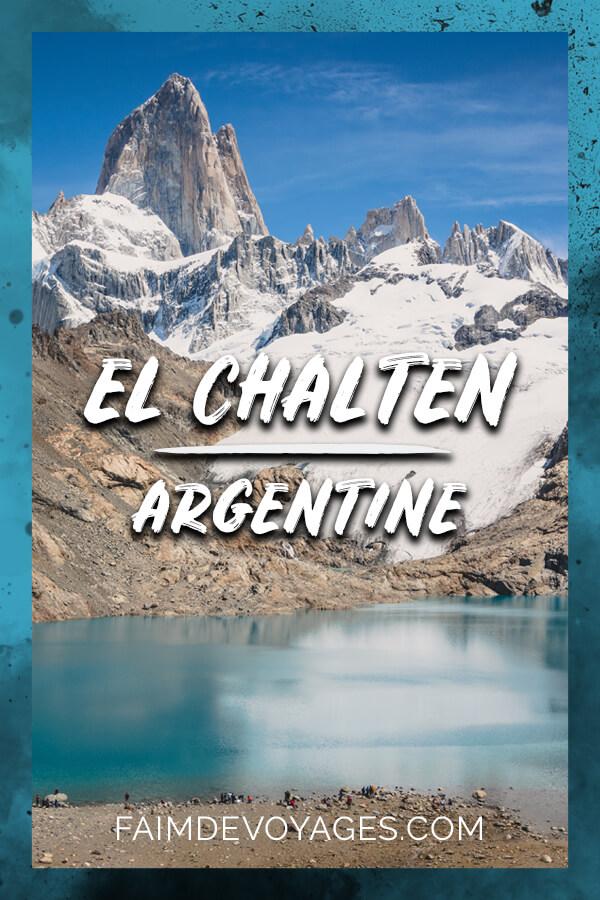 Mont Fitz Roy Devant La Laguna De Los Tres à El Chalten En Argentine