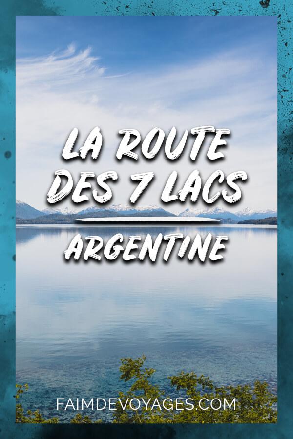 Un Lac Près De Villa Angostura Sur La Route Des 7 Lacs En Argentine