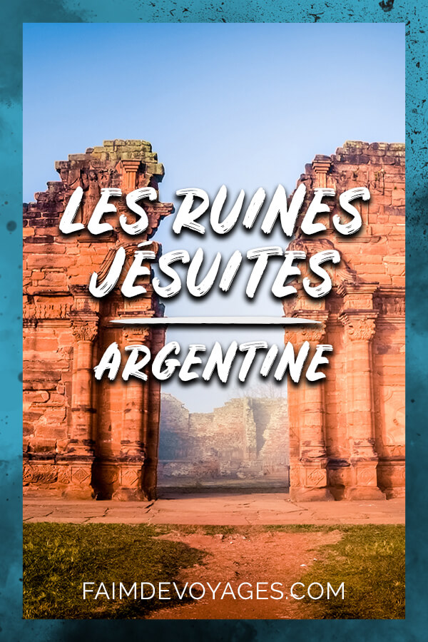 Entrée Monumentale Des Ruines Jésuites Argentines