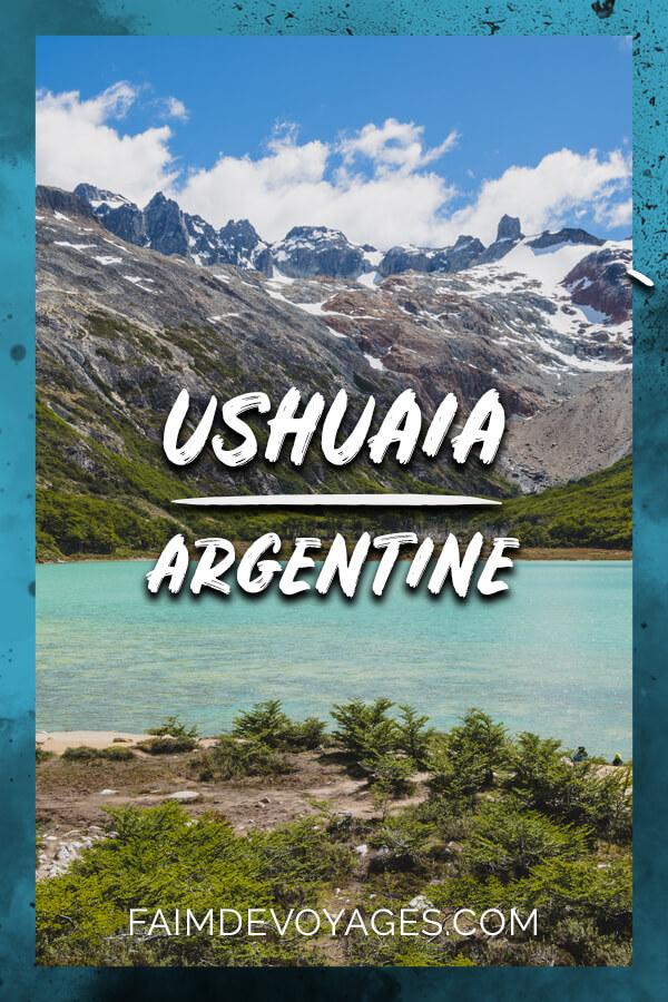 Faire De La Randonnée à Ushuaia à La Laguna Esmeralda En Argentine