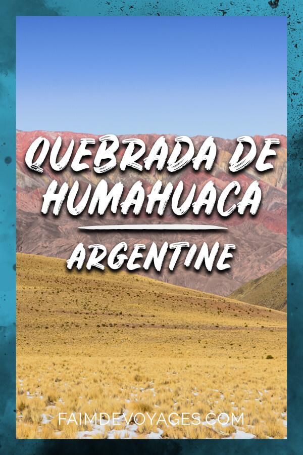 Montagne Des 14 Couleurs Sierra Hornocal Près De Humahuaca En Argentine
