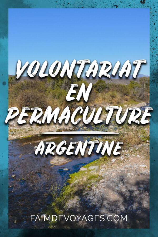 Vue De La Petite Rivière De Notre Volontariat En Permaculture Près De Cordoba En Argentine